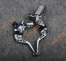 US Chrome Brake Master Cylinder Clutch Levers for Yamaha Roadstar 1600 Virago