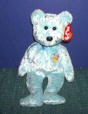 Ty Beanie Baby - Light  Blue  Decade Bear - 2003 with Hang Tag