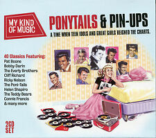 PONYTAILS & PIN-UPS - 2 CD BOX SET - PAT BOONE, BOBBY DARIN & MANY MORE