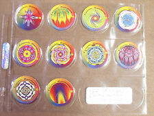 COSMIC RAINBOW FROM S.G.I. PRO CAPS SHEETED 1994 POGS/MILKCAPS SET OF ALL (10)