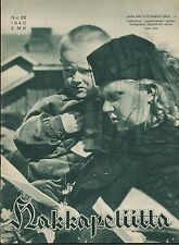 Finland Wartime Magazine Hakkapeliitta 1940 #22 - WWII - War Widow