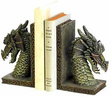 PAIR ** MYTHICAL FIERCE DRAGON BOOKENDS SET ** NIB