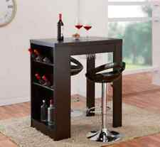 Modern Bar Table Counter Height Small With Storage Kitchen Dinning Wine Stemware