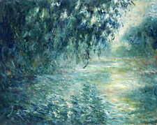 Art Oil painting Monet - Impression landscape Seine river in the morning canvas
