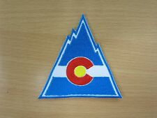NHL Colorado Rockies Logo embroidered Iron on Patch High Quality Shirt Bag Cap
