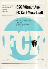 OL 88/89  FC Karl-Marx-Stadt - BSG Wismut Aue