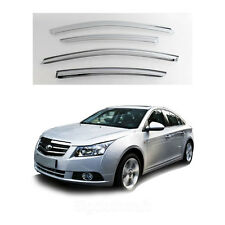 New Chrome Window Vent Visors Rain Guards for Chevrolet Cruze 4Door 2011-2012