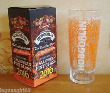 Hobgoblin Beer 2016 Halloween Pint Glass Wychwood Brewery Pub Bar Boxed & Unused
