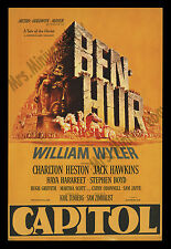 BEN HUR 1959 RARE ROADSHOW Movie Poster CHARLTON HESTON & WILLIAM WYLER'S BEST!!