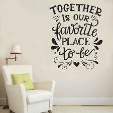 Wall Decor Home Happy Together Favorite Place Phrase Decal Vinyl Sticker Window