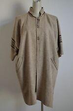 RARE Handmade Wool Southwestern Blanket Cape Coat Kimono Poncho Wrap M L XL XXL