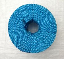 30 METRE MINI COIL X 12 MM BLUE POLYPROPYLENE ROPE, BOATS, CARS , VANS, CAMPING