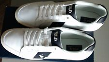 Mens Polo Ralph Lauren Hugh SK VLC White Canvas Fashion Sneakers Shoes size 14 D