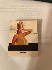 VINTAGE MATCHBOOK MATCH PACK NUDE WOMAN NAKED PIN UP GIRL, MOBIL GAS STATION!