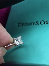 Tiffany & Co Internally Flawless Princess Diamond Ring GIA F IF Laser Inscribed