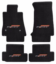 NEW! BLACK FLOOR MATS 2016-2017 Camaro Embroidered 50TH Fifty Anniversary Logo A