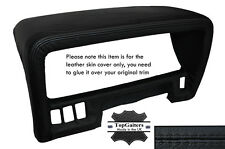 BLACK STITCHING SPEEDO HOOD TRIM LEATHER SKIN COVER FITS NISSAN PATROL Y60