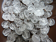 Czech hawaiian Picasso clear table cut flower beads 12 mm pack of 6