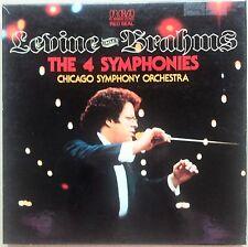4 LP BOX SET-LEVINE CONDUCTS BRAHMS-THE 4 SYMPHONIES, MINT/MINT