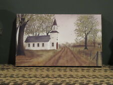 """**Primitive Country 6X10 Canvas Print - Billy Jacobs - """"Country Chapel""""!!**"""