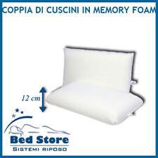 COPPIA di cuscini DA LETTO in MEMORY FOAM Saponetta RIVESTIMENTO COTONE OFFERTA