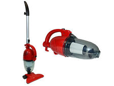 NEW RED 2IN1 HAND HELD UPRIGHT BAGLESS COMPACT VACUUM CLEANER CARPET HOOVER 800w