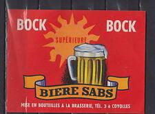 A110  Ancienne étiquette Bière Alcool France Sabs  Coyolles