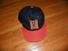 VINTAGE 1993 WARNER BROS MARVIN THE MARTIAN BLACK & ORANGE SNAPBACK HAT CAP