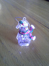 New Snowman Christmas ornament by Ganz  with name Kristina