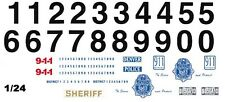 DENVER, Co. Police Car 1/25th - 1/24th Scale Waterslide Decals
