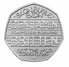2013 50P COIN RARE BENJAMIN BRITTEN COMPOSER 100 YEARS ANNIVERSARY FIFTY PENCE e
