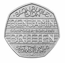 2013 50P COIN RARE BENJAMIN BRITTEN COMPOSER 100 YEARS ANNIVERSARY FIFTY PENCE o