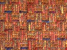 "Wool Blend Multi Colored Suiting Fabric Jewel Tone Gold Textured 56"" 2 1/4 Yds"