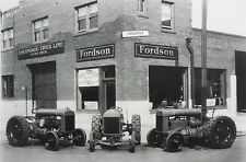 """12 By 18"""" Black & White Picture 1930 Fordson Tractor Dealer"""