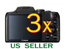 3x Canon PowerShot SX170 IS Clear LCD Screen Protector Guard Shield Film