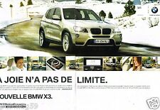Publicité advertising 2011 (2 pages) BMX X3