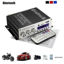 2CH 20W Power Bluetooth HiFi Stereo AMP Amplifier Bass Booster For Car Home MP3
