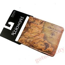 The Lord of the Rings Middle-earth Map Bi-Fold Leather Wallet Purse Gift