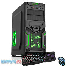 AMD Dual Core 8GB 1TB Desktop Gaming PC Computer HD ultra veloce GREEN GOBLIN