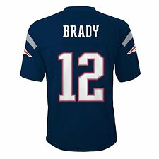 Tom Brady New England Patriots Navy Blue Authentic Home Jersey (Youth Medium)