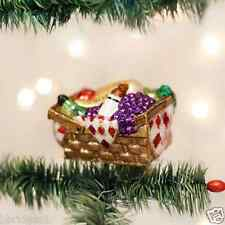 *Picnic Basket* Park Lunch Food [32205] Old World Christmas Glass Ornament - NEW