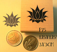 Lotus flower rubber stamp. P75