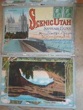 Rare Scenic Utah Souvenir Folder Circa 1920's With 18 Colour Images Back-to-Back