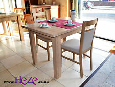 Extending dining table in oak sonoma, solid, great for all kitchens and rooms!