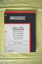 MacDon Windrower Westward Prairie Star Premier Harvest Pro parts catalog Canada