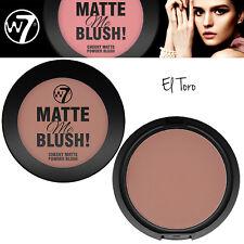 W7 Make UP - Compact Cheeky Matte Me Blush Powder - Blusher - El Toro