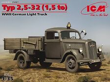 ICM 1/35th Scale Typ 2.5-32 (1.5 Ton) WWII German Light Truck Kit No. 35401