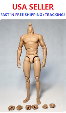 "ZC toys 1/6 scale Muscular Body for 12"" male figure Wolverine Head play"