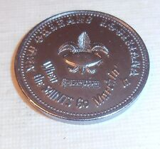 VINTAGE 1968 WHEN THE NEW ORLEANS SAINTS COME MARCHING SCHEDULE DOUBLOON COIN