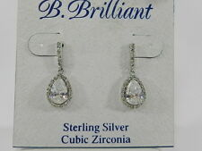 B.Brilliant Sterling Silver Cubic Zirconia Pave Teardrop Earring (2-9/10 ct. tw)